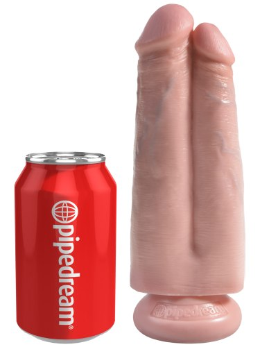 "Realistické dildo King Cock Two Cocks One Hole 7"""