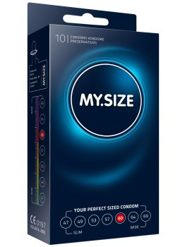 Kondomy MY.SIZE 60 mm, 10 ks – XL a XXL kondomy pro velké penisy