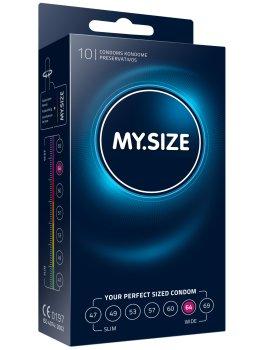 Kondomy MY.SIZE 64 mm, 10 ks – XL a XXL kondomy pro velké penisy