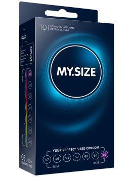 Kondomy MY.SIZE 69 mm, 10 ks – XL a XXL kondomy pro velké penisy