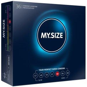 Kondomy MY.SIZE 60 mm, 36 ks – XL a XXL kondomy pro velké penisy