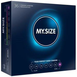 Kondomy MY.SIZE 69 mm, 36 ks – XL a XXL kondomy pro velké penisy
