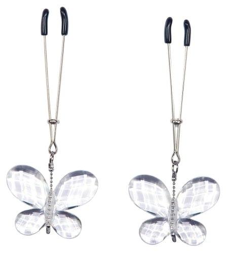 Svorky na bradavky s motýlky Bad Kitty