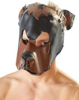 Fetish maska Pes, černohnědá – Zvířecí masky