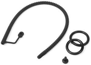 Silikonový katétr s vroubky, zátkou a kroužkem na penis – Katétry a cévky - na cévkování a piss hrátky