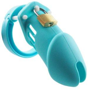 Pás cudnosti - silikonový (klícka na penis) – Pásy cudnosti pro muže