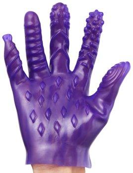 Masturbační rukavice se stimulačními výstupky – Masážní pomůcky a doplňky