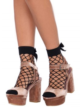 Síťované ponožky s mašličkou Leg Avenue – Ponožky a podkolenky