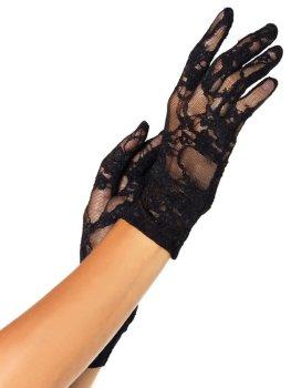 Krátké krajkové rukavice Leg Avenue – Sexy rukavice