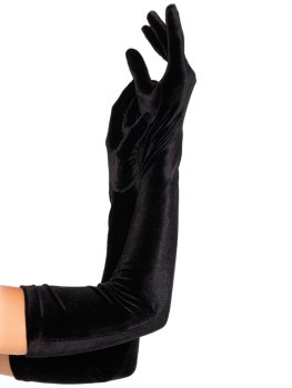 Extra dlouhé sametové rukavice – Sexy rukavice
