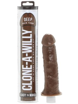 Odlitek penisu Clone-A-Willy Deep Skin Tone - vibrátor – Odlitky penisu
