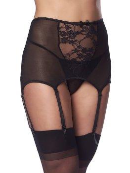 Vysoký podvazkový pás + punčochy a tanga Rimba – Sexy dámské podvazky a podvazkové pásy