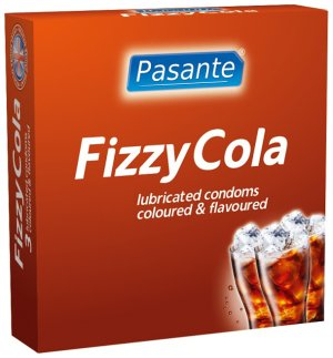 Kondomy Pasante Fizzy Cola – Kondomy s příchutí