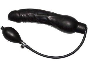 Nafukovací latexové dildo Black Latex Balloon – Nafukovací anální dilda a kolíky