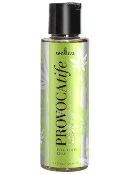 Masážní olej s konopím a feromony Sensuva PROVOCAtife – Erotické masážní oleje, gely a emulze