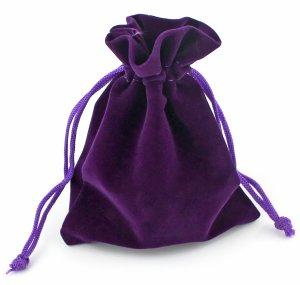 Dárkový sametový pytlík - fialový, různé velikosti – Dárkové tašky a krabičky
