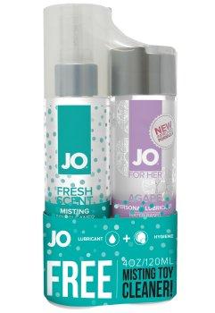 Lubrikační gel System JO Agapé + čisticí sprej ZDARMA – Dezinfekce pomůcek