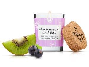 Afrodiziakální masážní svíčka MAGNETIFICO - Enjoy it! Blackcurrant and kiwi – Masážní svíčky