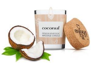 Afrodiziakální masážní svíčka MAGNETIFICO - Enjoy it! Coconut – Masážní svíčky