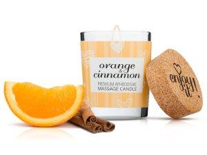 Afrodiziakální masážní svíčka MAGNETIFICO - Enjoy it! Orange and cinnamon – Masážní svíčky