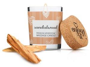 Afrodiziakální masážní svíčka MAGNETIFICO - Enjoy it! Sandalwood – Masážní svíčky