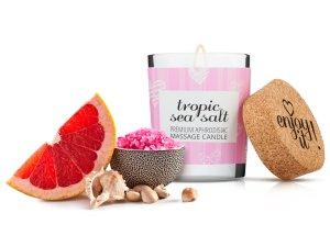 Afrodiziakální masážní svíčka MAGNETIFICO - Enjoy it! Tropic sea salt – Masážní svíčky