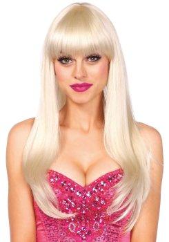 Paruka s ofinou Bangin - blond, dlouhá – Paruky