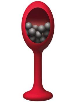 Silikonový anální kolík s vnitřními kuličkami The Rattler – Silikonové a gelové anální kolíky