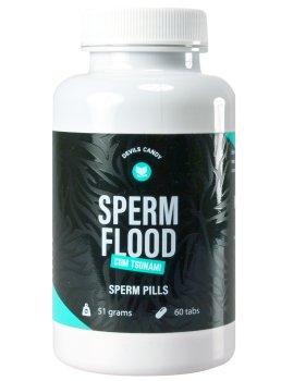 Tablety na lepší tvorbu spermií Devils Candy Sperm Flood – Přípravky na větší objem ejakulátu a zdravé spermie