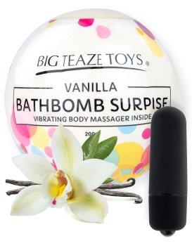 Bomba do koupele s vibrační patronou Surprise, vanilka – Bomby do koupele