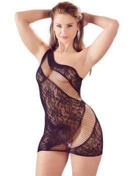 Sexy krajkové minišaty na jedno rameno Mandy Mystery – Sexy šaty a minišaty