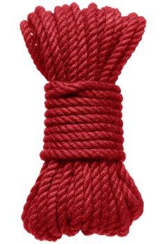 Konopné lano na bondage Hogtied Bind & Tie 30 ft, 9 m (červené) – Bondage lana