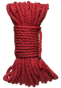 Konopné lano na bondage Hogtied Bind & Tie 50 ft, 15 m (červené) – Bondage lana