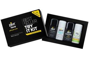Testovací sada lubrikačních gelů PJUR Try It Kit – Kosmetické sady