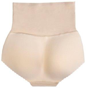 Kalhotky s vycpávkami a vysokým pasem, tělová barva – Vycpávky do rozkroku i podprsenky