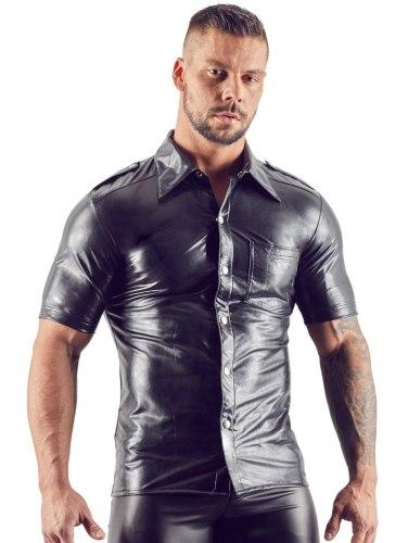 Lesklá pánská košile s límečkem Svenjoyment