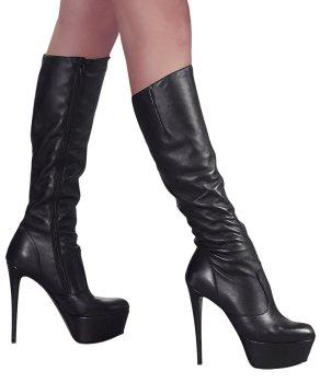 Kozačky na vysokém podpatku Cottelli Collection – Sexy erotická obuv, boty do postele