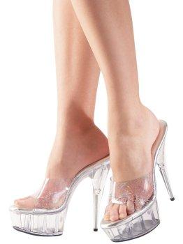 Pantofle na vysokém podpatku Cottelli Collection – Sexy erotická obuv, boty do postele