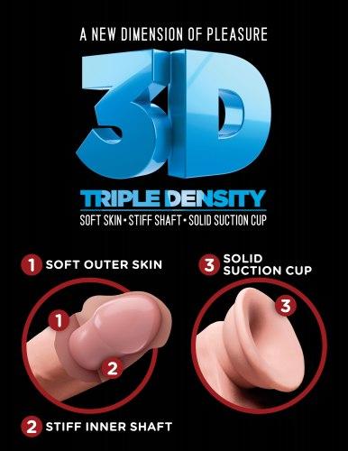 """Realistické dildo Triple Density 8"""""""
