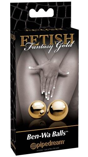 Kovové vaginální kuličky Ben-Wa Fetish Fantasy Gold