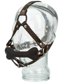 Kousací silikonový roubík s maskáčovým postrojem COLT Camo – Postroje na hlavu