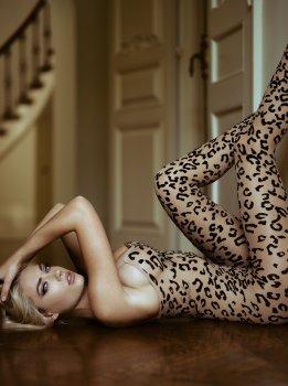 Leopardí catsuit Leg Avenue – Dámské catsuity a overaly