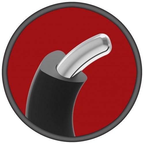 Silikonový erekční kroužek s kovovým jádrem KINK, 45 mm